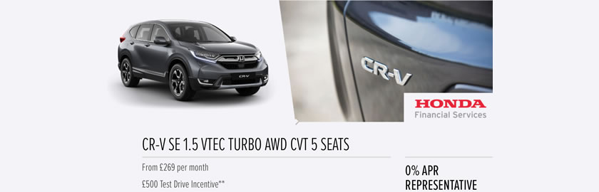 Discover the new CR-V at Steels